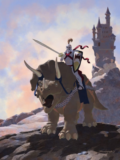 Knight on Triceratops