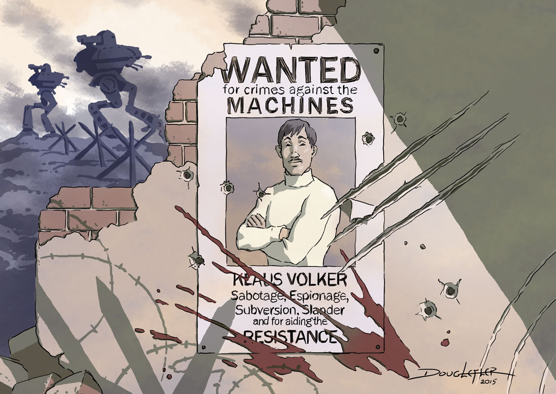 Dieselpunk wanted poster