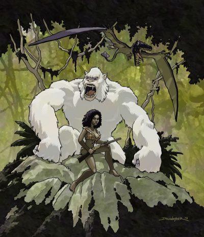 Hollow World, white ape, pru