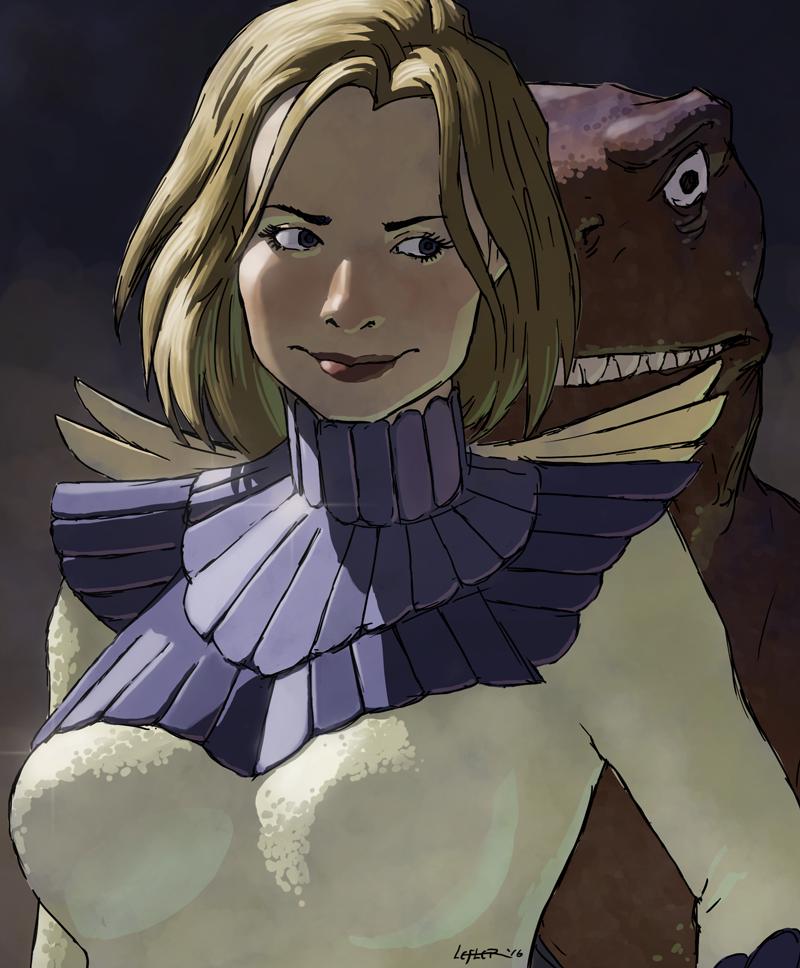 Nephilim and dinosaur