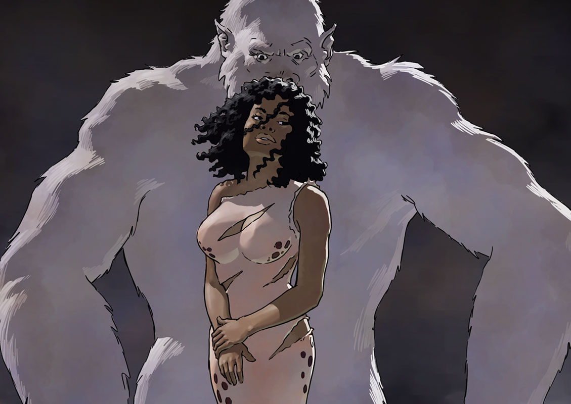 Pru, white ape, the Heart of the Hollow World