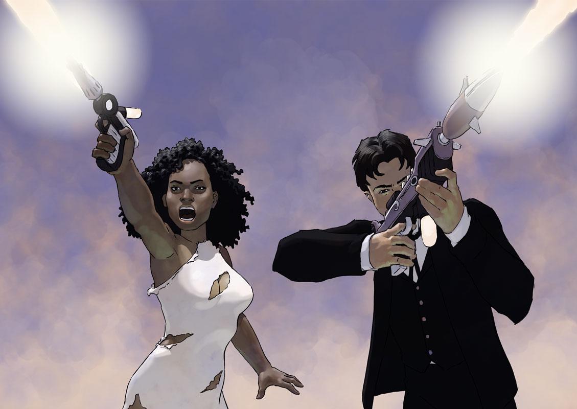 Pru and Oz take aim.