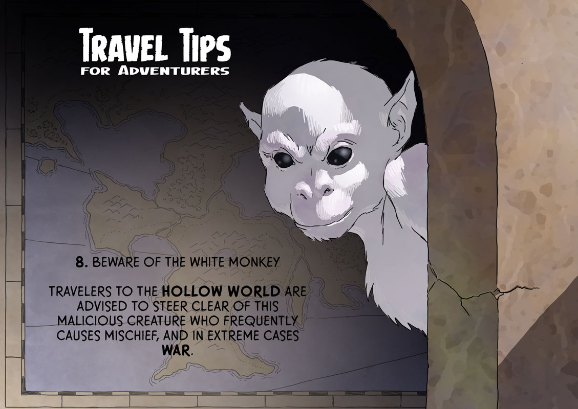 Evil white monkey