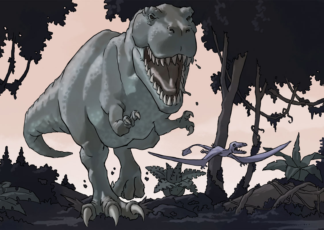 T Rex from Hollow World.
