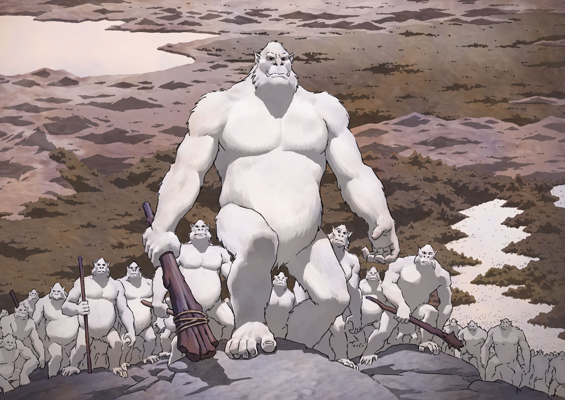 White apes gather for war.