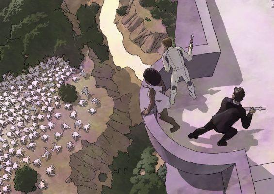 The white apes gather