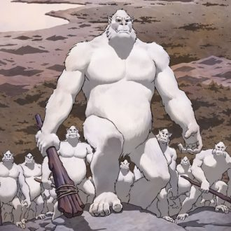 White apes prepare for battle
