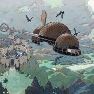 The airship leaves Alpiria.
